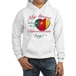 My heart belongs to a Cameroonian boy Hooded Sweat