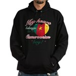 My heart belongs to a Cameroonian boy Hoodie (dark