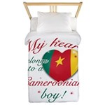 My heart belongs to a Cameroonian boy Twin Duvet