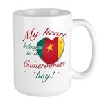 My heart belongs to a Cameroonian boy Large Mug