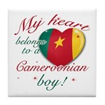 My heart belongs to a Cameroonian boy Tile Coaster