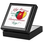 My heart belongs to a Cameroonian boy Keepsake Box