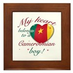 My heart belongs to a Cameroonian boy Framed Tile