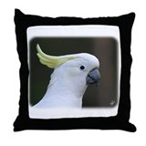 Sulphur Crested Cockatoo 9Y321D-017 Throw Pillow