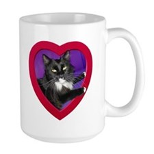 Cat in Heart Mug