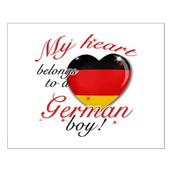 My heart belongs to a German boy Small Poster