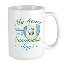My heart belongs to a Guatemalan boy Large Mug
