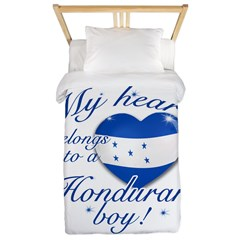 My heart belongs to a Honduran boy Twin Duvet