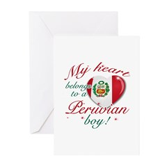 My heart belongs to a Peruvian boy Greeting Cards