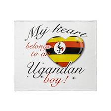 My heart belongs to an Ugandan boy Throw Blanket