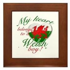 My heart belongs to a Welsh boy Framed Tile