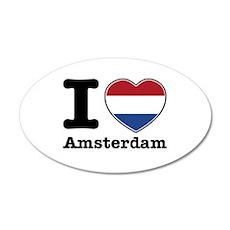 I love Amsterdam 22x14 Oval Wall Peel