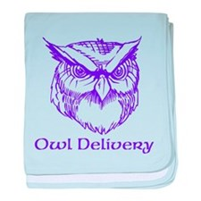 Owl Delivery baby blanket