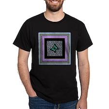 Gardenpath Butterfly  Black T-Shirt