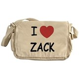 I heart zack Messenger Bag