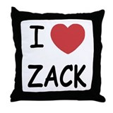 I heart zack Throw Pillow