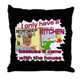 Family Fun Kitchen Throw Pillow
