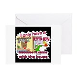 Family Fun Kitchen Greeting Card
