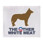 Dog, The Other White Meat Throw Blanket