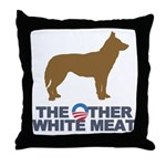 Dog, The Other White Meat Throw Pillow