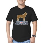 Dog, The Other White Meat Men's Fitted T-Shirt (da