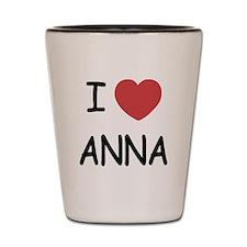 I heart anna Shot Glass