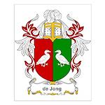 de Jong Coat of Arms Small Poster