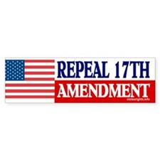 Bumper Sticker, US, Repeal 17th