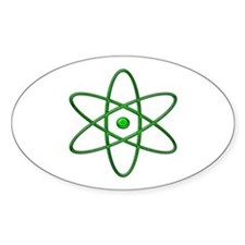 """Orbit, Green"" Oval Decal"