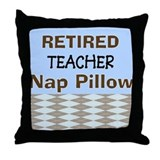 Retired teacher Throw Pillows