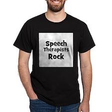 SPEECH THERAPISTS  Rock Black T-Shirt