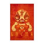 Vintage Lucha Mini Poster Print