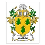 Van Hulst Coat of Arms Small Poster