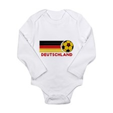 Cute German soccer Long Sleeve Infant Bodysuit