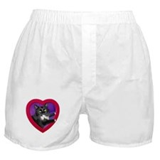 Cat in Heart Boxer Shorts