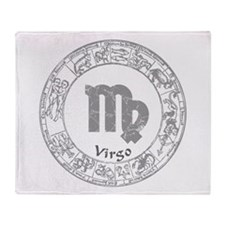 Virgo Zodiac sign Throw Blanket