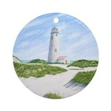Dunes At Great Point Light Ornament (Round)