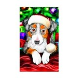 Aussie Santa Pup Rectangle Decal