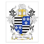 Van der Hagen Coat of Arms Small Poster