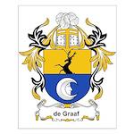 de Graaf Coat of Arms Small Poster