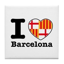 I love Barcelona Tile Coaster