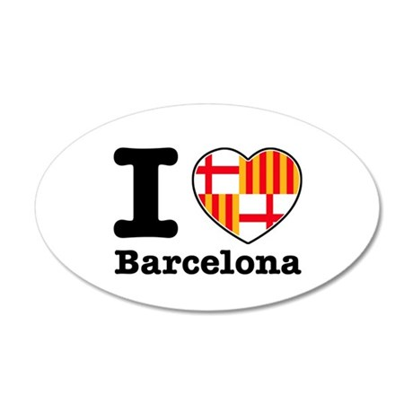 I love Barcelona 22x14 Oval Wall Peel