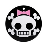 Skull Baby Girl Ornament (Round)