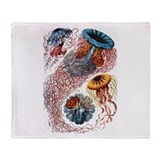 Ernst Haeckel Jellyfish Throw Blanket