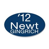 Newt Gingrich 38.5 x 24.5 Oval Wall Peel