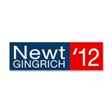 Newt Gingrich Car Magnet 10 x 3