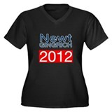 Newt Gingrich Women's Plus Size V-Neck Dark T-Shir