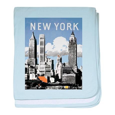 Classic New York baby blanket