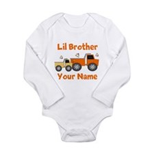 Little Brother Truck Long Sleeve Infant Bodysuit