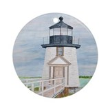 Evening Light at Brant Point Ornament (Round)
